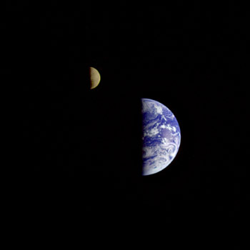 The Earth & Moon